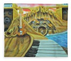 Hard Rock Fleece Blanket