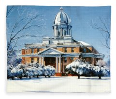 Hardin County Courthouse Fleece Blanket