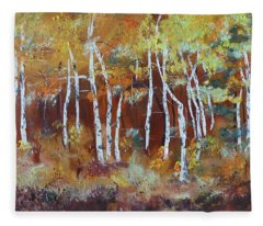Harding Way  Aspens Dancing Fleece Blanket