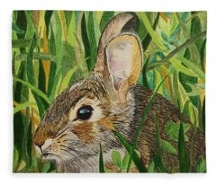 Hare's Breath Fleece Blanket