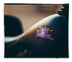 Harley Davidson Cycle Fleece Blanket