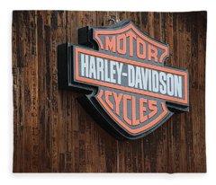 Harley Davidson Sign In West Jordan Utah Photograph Fleece Blanket