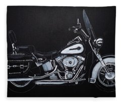 Harley Davidson Snap-on Fleece Blanket