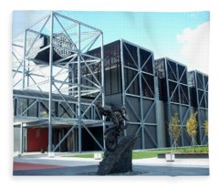 Harley Museum And Statue Fleece Blanket