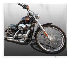 Harley Sportster Xl1200 Custom Fleece Blanket