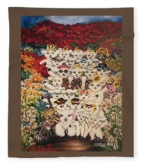 Flying Lamb Productions          Harmony Creative Village Group Portrait Fleece Blanket