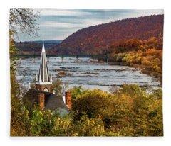 Harpers Ferry, West Virginia Fleece Blanket