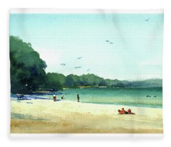 Harrington Beach, Wisconsin Fleece Blanket