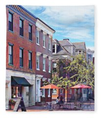 Harrisburg Pa - Coffee Shop Fleece Blanket