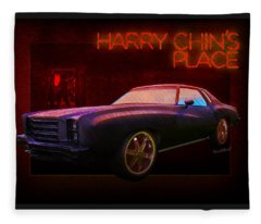 Harry Chins Place Over East Side Of Town Fleece Blanket