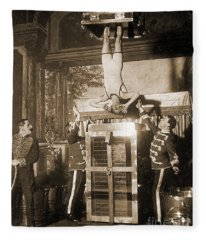 Harry Houdini Suspended Above A Tank Of Water  Fleece Blanket