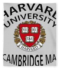 Harvard University Cambridge M A  Fleece Blanket