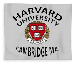 Harvard University Cambridge M A  Fleece Blanket