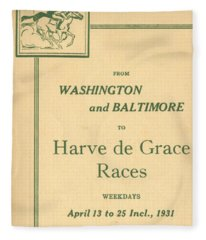 Harve De Grace Races Fleece Blanket