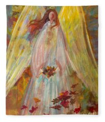 Harvest Autumn Angel Fleece Blanket
