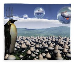 Harvest Day Sightings Fleece Blanket