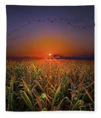 Harvest Migration Fleece Blanket