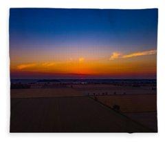 Harvest Sunrise Fleece Blanket