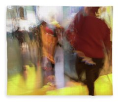 Fleece Blanket featuring the photograph Harvest Time In The City by Alex Lapidus
