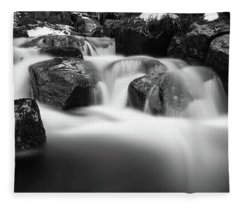 Harz Mountain Stream Fleece Blanket