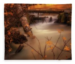 Hat Creek In Gold Fleece Blanket