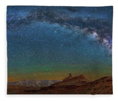Hat Rock Milky Way Fleece Blanket