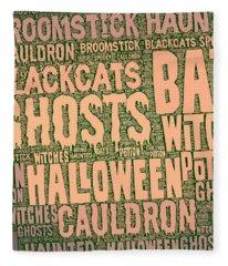 Haunted Halloween Fleece Blanket