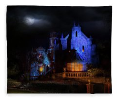 Haunted Mansion At Walt Disney World Fleece Blanket