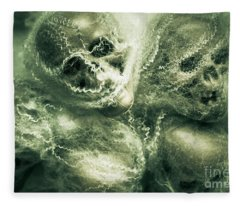 Haunted Undead Skeleton Heads Fleece Blanket