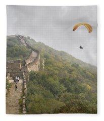 Haunting Great Wall Fleece Blanket