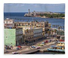 Havana By The Port Fleece Blanket