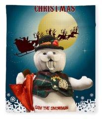 Have A Holly Jolly Christmas Fleece Blanket