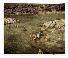 Having A Swim In Naples Fleece Blanket