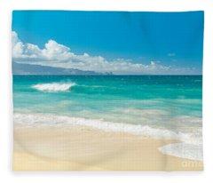 Hawaii Beach Treasures Fleece Blanket