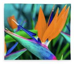 Hawaii Bird Of Paradise Flowers Fleece Blanket