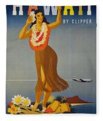 Hawaii By Clipper Fleece Blanket