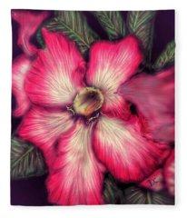 Hawaii Flower Fleece Blanket