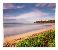 Hawaii Pakala Beach Kauai Fleece Blanket
