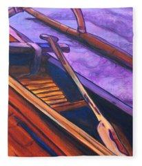 Hawaiian Canoe Fleece Blanket