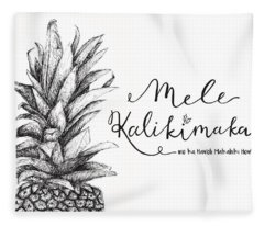 Hawaiian Christmas Fleece Blanket