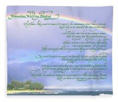 Hawaiian Language Wedding Blessing Fleece Blanket