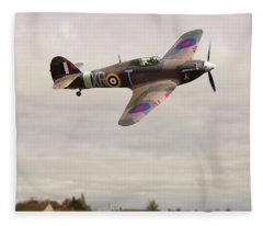 Fleece Blanket featuring the photograph Hawker Hurricane -2 by Paul Gulliver