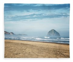 Haystack Rock Pacific City Fleece Blanket