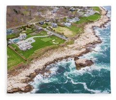 Hazard Rocks, Narragansett  Fleece Blanket