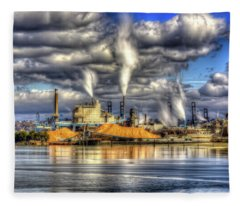 Hdr - Westrock Plant Tacoma, Wa Fleece Blanket