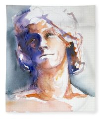 Head Study 1 Fleece Blanket
