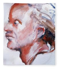 Head Study 5 Fleece Blanket