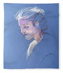 Head Study 6 Fleece Blanket
