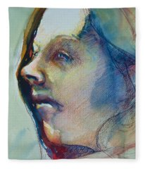 Head Study 7 Fleece Blanket