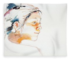 Head Study 9 Fleece Blanket